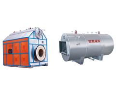 有機熱載體(ti)爐铺地上、煙氣余熱鍋爐